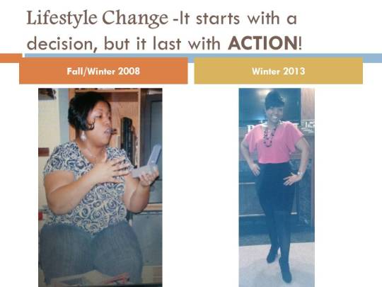 Lifestyle Change -before and after 2013