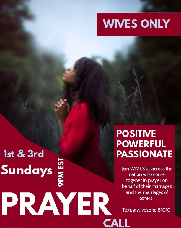 Wives Prayer Call Flier