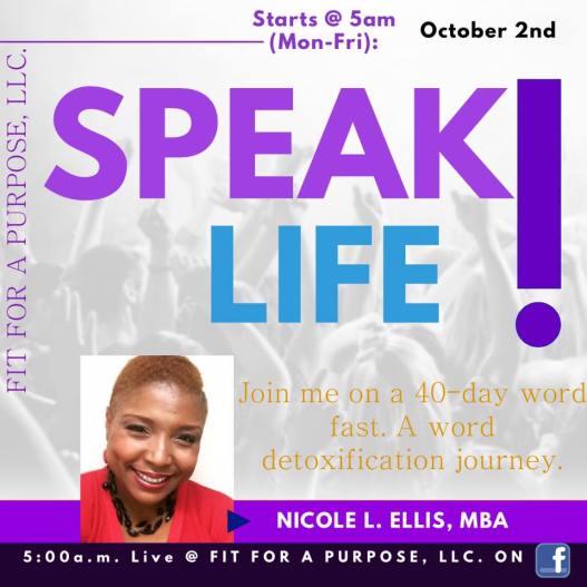 Speak life 40 day journey
