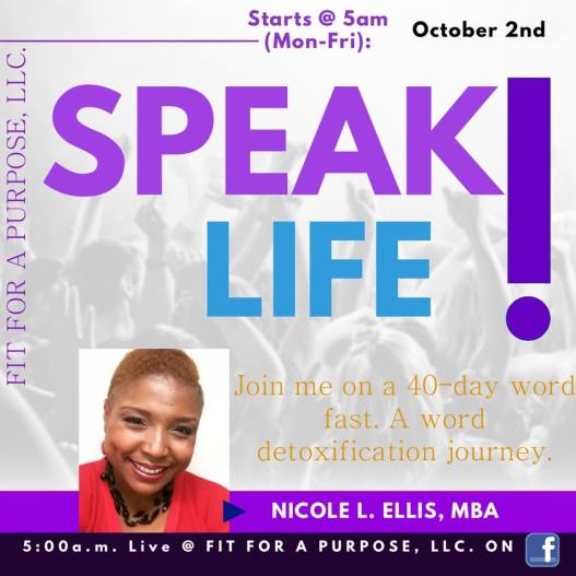 Speak life 40 day journey
